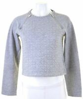 ABERCROMBIE & FITCH Womens Sweatshirt Jumper Size 10 Small Grey Cotton  HI12