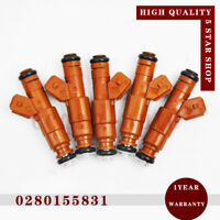 5 x Fuel Injector 0280155831 for Volvo C70 S60 S70 2.4 S80 2.3 V70 XC70 XC90 2.5