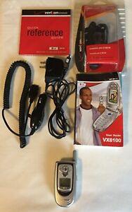 LG VX6100 - Verizon Silver Flip Cell Phone