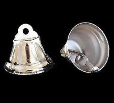 5 x Nickel Plated Liberty Bells 25mm - Silver Pet Rabbit Parrot Bird Toy Parts