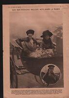 WWI Albert Ier Roi & Reine des Belges à Liège/ Queen Elizabeth 1918 ILLUSTRATION