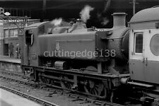 Larger Railway Negative: Pannier 9420 at Paddington 14/09/1957*            5/430
