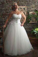 Strapless Ball Gown White Plus Size Bridal Wedding Dress Custom made