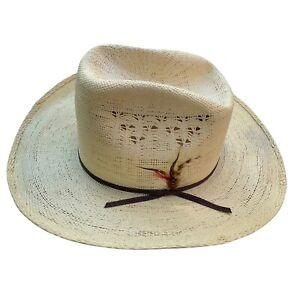 Vintage Miller Bros Western Cowboy Hat Size 7 3/8 Bros. Straw Westerns