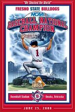 Fresno State Bulldogs SHOCKED THE WORLD 2008 College World Series Champs POSTER