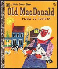 Vintage Children's Little Golden Book ~ OLD MacDONALD HAD A FARM
