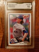 2014 Topps Update JACOB DeGROM  #US50 Rookie Throwing GMA 10 Gem Mint METS 🔥