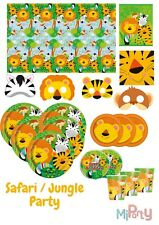 Safari Party Jungle Animal Zoo Tableware Birthday Decorations Napkin Plate Cup
