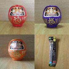 un ensemble de petit Poupée Daruma Rouge & Violet & Orange du Takasaki-modèle