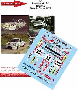 Decals 1/18 Ref 663 Porsche 911 Soriano Tour Of Corse 1979 Rally WRC