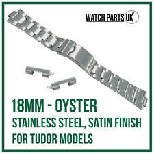 ♛ 18mm Oyster Stainless Steel Brushed Bracelet Watch Strap For TUDOR Models ♛