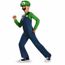 Licensed Nintendo Super Mario Bros Luigi Classic Boys Child Costume LG 10-12