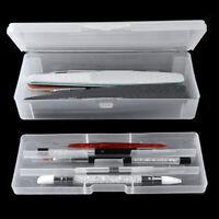 Transparent Double-layer Nail Art Pen Storage Box Makeup Tool Plastic Organizer