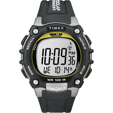 Timex Ironman Triathalon Full Size Traditional 100-Lap Timer Watch Black/Silver