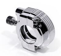"""acelerador Sujeción Guía Admisión CROMO PARA 1"""" Manillar harley motos CUSTOM HD"""