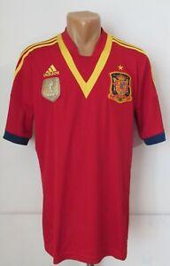 SPAIN 2013/2014 HOME FOOTBALL SHIRT SOCCER JERSEY CAMSIETA MAGLIA TOP ADIDAS (L)