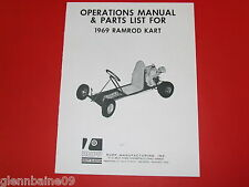 Vintage & Rare Rupp 1969 Ramrod Go-Kart Operations Manual (4 Pages)