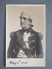 R&L Postcard: Edwardian British Actor, Ben Webster, Royal Navy Uniform/Costume