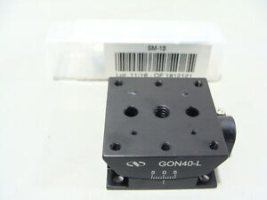 Newport GON40-L Lower Goniometer Stage -5 to +5° Rotation + SM-13 Micrometer