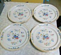 4 International China Stoneware Heartland Dinner Plates Farmer Scene #7774