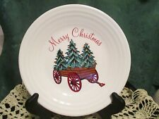 Fiesta Ware Belk Exclusive WHITE HOLIDAY WAGON Christmas Luncheon plate NWT 2019