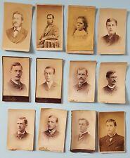 Lot of 12 Antique Cabinet & Paper Portrait Photos MA ME NH Studios