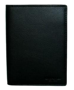 Coach Passport Holder Case Leather Travel Wallet Black F93604