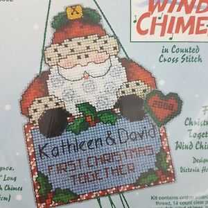 Dimensions Windchimes Xmas 1st Xmas Together Counted Cross Stitch Kit Embroidery