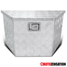 "15""/28"" Heavy Duty Aluminum Tool Box Truck Trailer Storage Organizer+Lock+Keys"