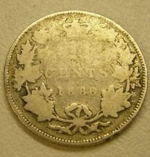 1886 Canada Silver 25 Cent Coin