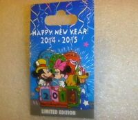 Disney Pin Mickey & Minnie Mouse New Year's Spinner with Pluto Pin  CUTE!