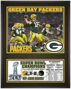 """Green Bay Packers Super Bowl XLV Champions 12"""" x 15"""" Plaque - Fanatics"""