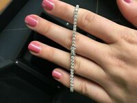 "10 Ct Round Diamond Tennis Women's Bracelet 14k White Gold Over 7.50"" Inch"