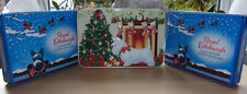 x3 SELECTION of SCOTTIE DOG XMAS SHORTBREAD BISCUIT TINS EX.CON