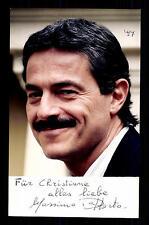 Massimo Dapporto AUTOGRAFO MAPPA ORIGINALE FIRMATO # BC G 14407