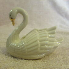 Lennox Porcelain Swan 24K Gold Trim