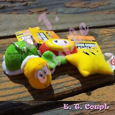3PC Super Mario characters star fire flower koopa troopa plush doll phone chain