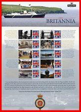 2013 Hmy Britannia 60th Anniversay Commemorative Smiler Sheet. Pack Number Cs20
