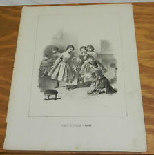 c1880 Antique Print/TALKING DOLLS TELL GIRL'S STORY///LOVE, MOM WAS THE TREASURE
