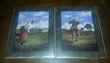"2 NIP 1996 Golfer Art Prints 8"" X 10"" Still Sealed Scafa Tornabene Lithographs"