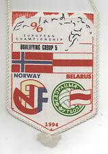 Orig.Wimpel   EM Qualifikation 07.09.1994   Norwegen - Weißrussland  !!  SELTEN