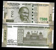 """Rs.500/- Urjit Patel  Star Note """"L"""" Inset  Prefix 4CC  2017 - UNC  LATEST"""