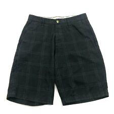 Volcom Black Chino Shorts Size 30 Waist Black Checks Business Casual Straight