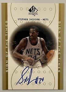 STEPHEN JACKSON 2000-01 SP Authentic Sign of the Times Auto Autograph RC Nets