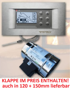 Tatarek Abbrandsteuerung trockene Kamine RT-08 OS-Grafik 2 Titanium mit Klappe