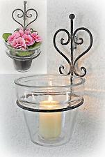 ❀ Wandhalter Blumentopfhalter Glastopf Wandkerzenhalter Blumentopf aus Glas #BW