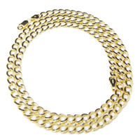 10K AUTHENTIC SOLID YELLOW GOLD CUBAN CURB LINK CHAIN NECKLACE 5 MM 18~26 INCH