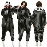 The Nightmare Before Christmas Jack Skellington Kigurumi Adult Pajamas Jumpsuit