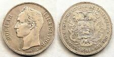 Venezuela-5 Bolivares  1911. Plata 24,9 g. Bonita