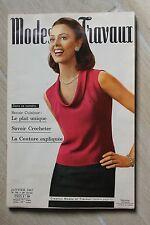 MODES ET TRAVAUX N°793 1967 mode fashion couture tricot pages poupées PATRON